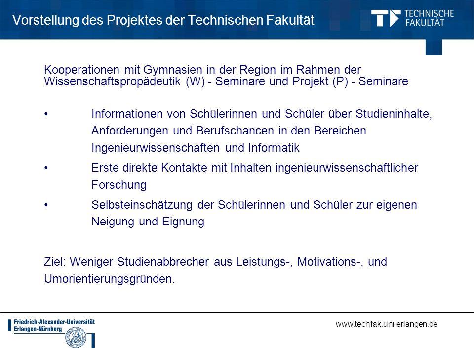 Vorstellung des Projektes der Technischen Fakultät