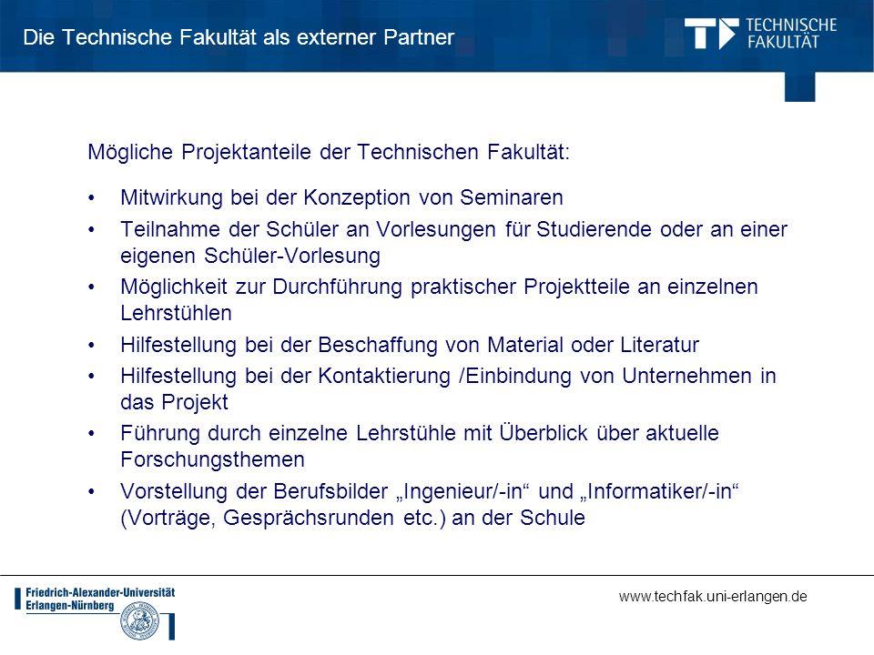 Die Technische Fakultät als externer Partner