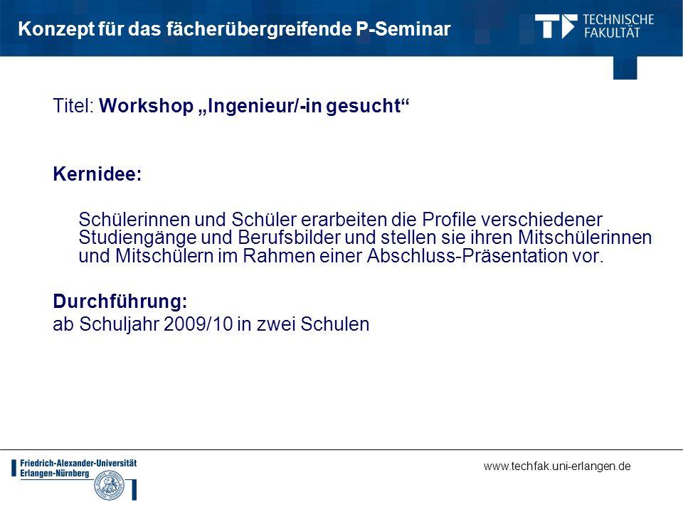 Konzept für das fächerübergreifende P-Seminar