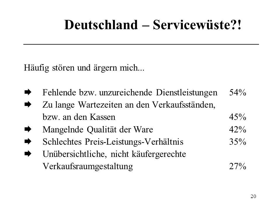 Deutschland – Servicewüste !
