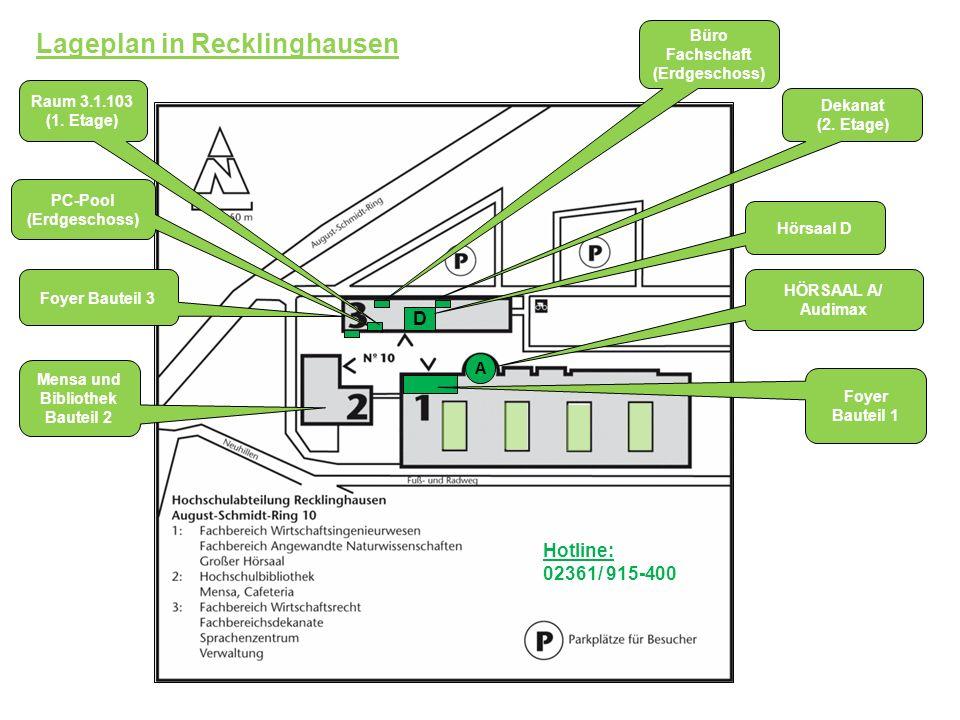 Lageplan in Recklinghausen