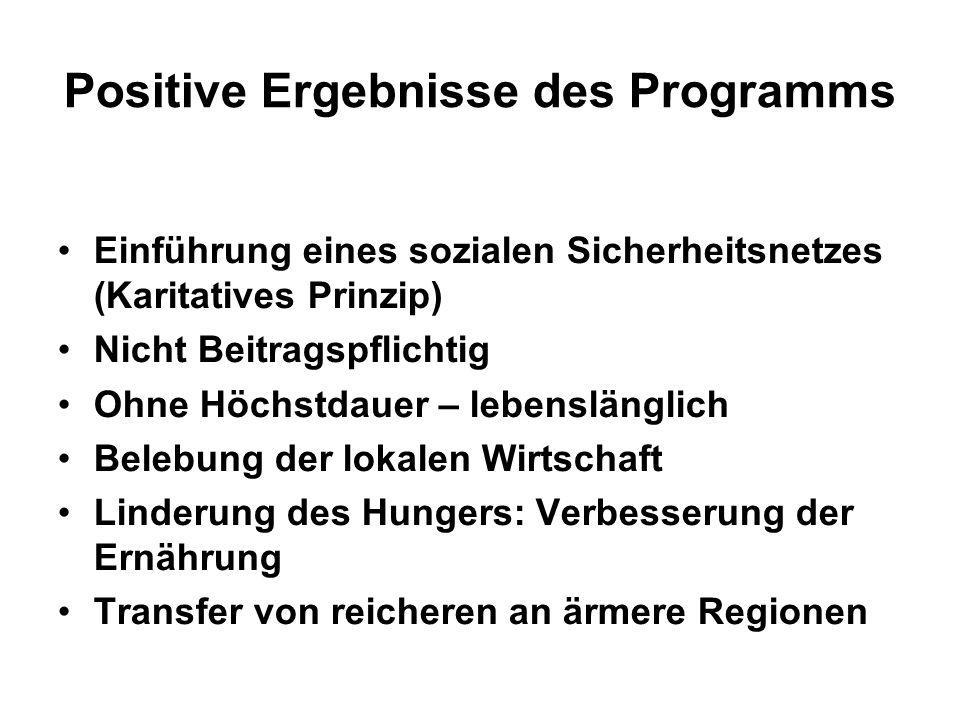 Positive Ergebnisse des Programms