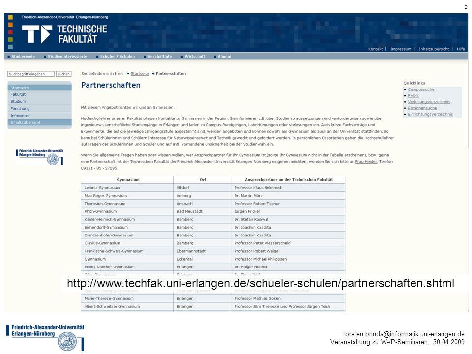 http://www. techfak. uni-erlangen. de/schueler-schulen/partnerschaften