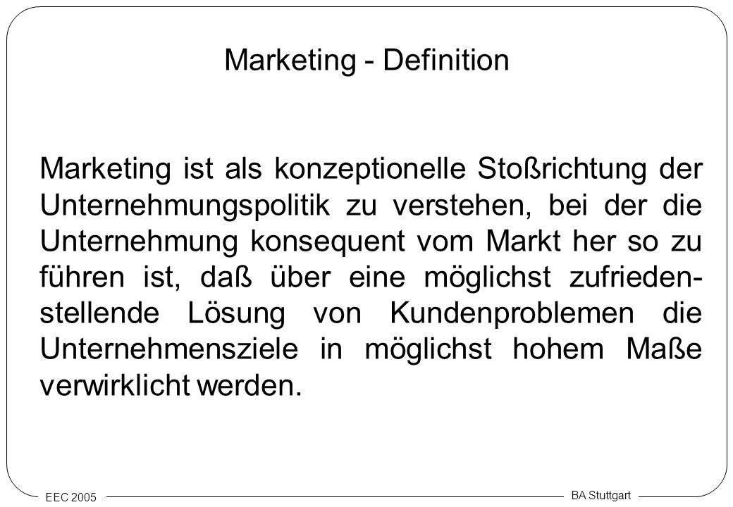 Marketing - Definition