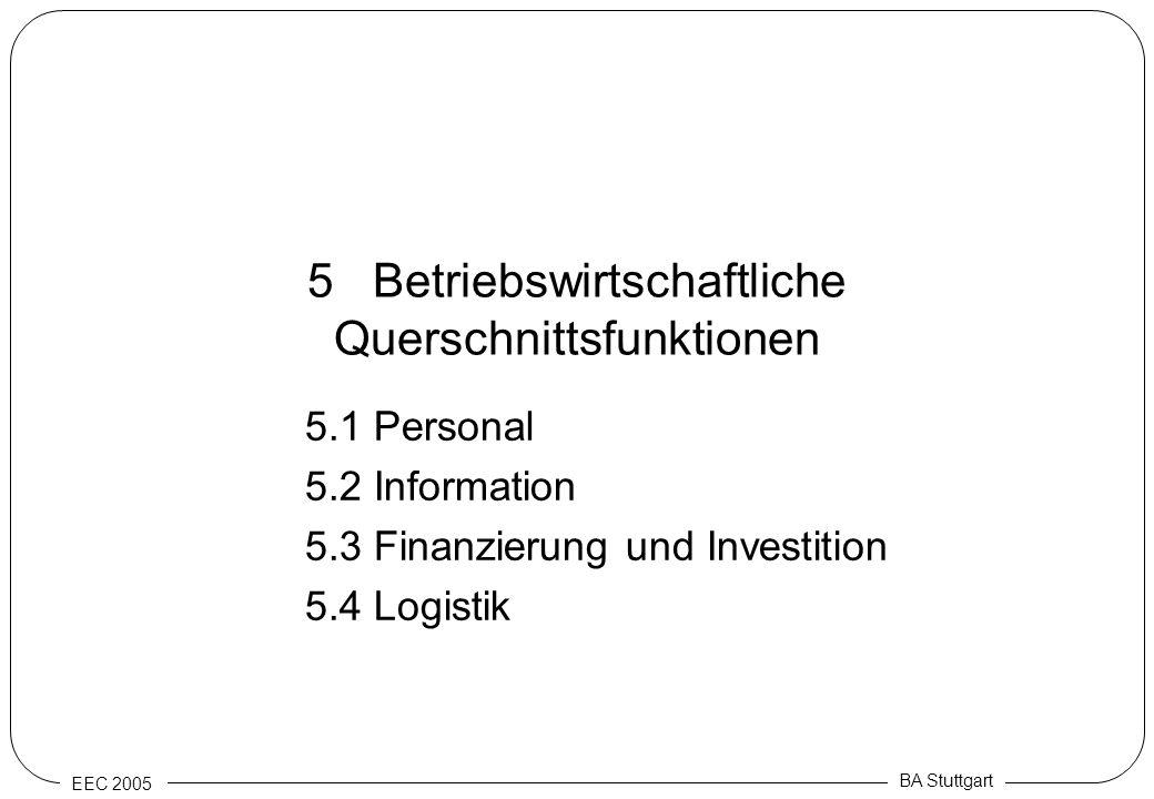 5 Betriebswirtschaftliche Querschnittsfunktionen