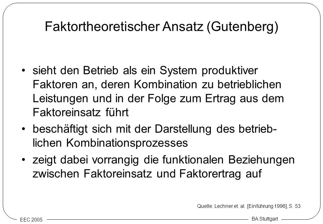Faktortheoretischer Ansatz (Gutenberg)