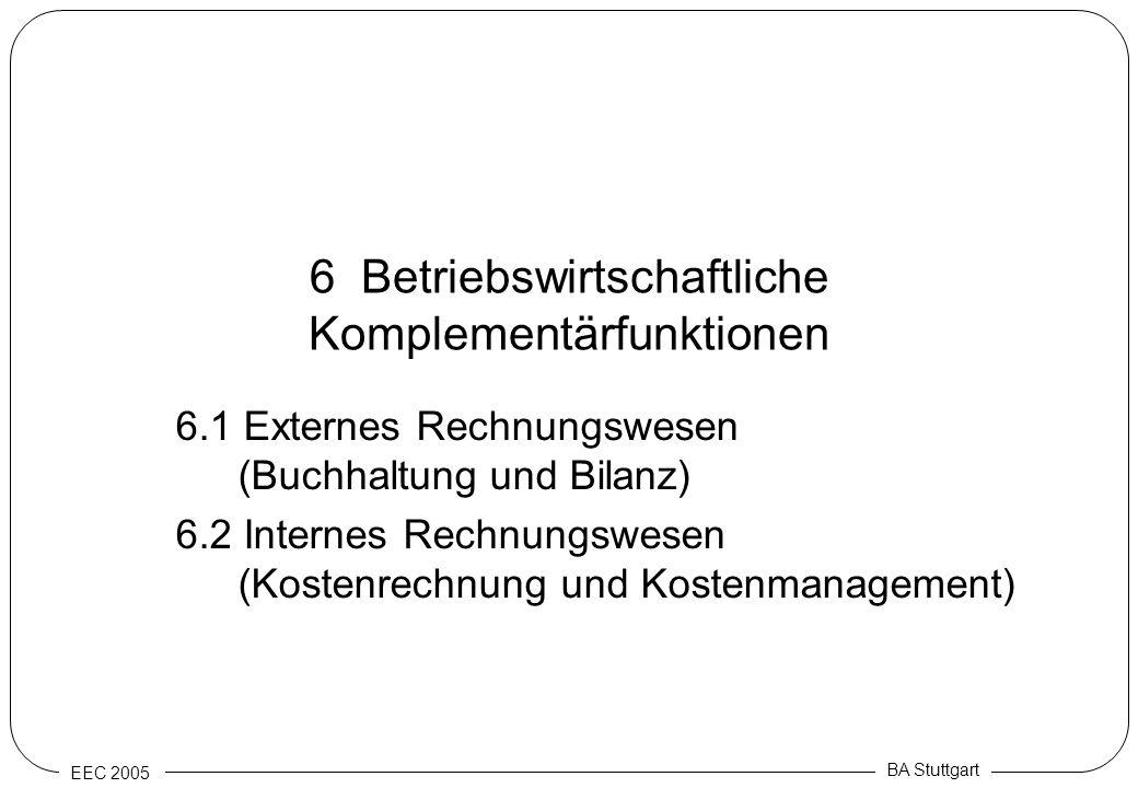 6 Betriebswirtschaftliche Komplementärfunktionen