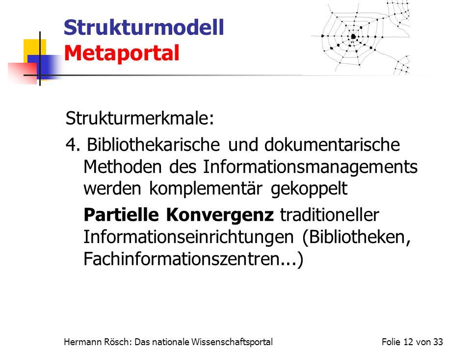 Strukturmodell Metaportal