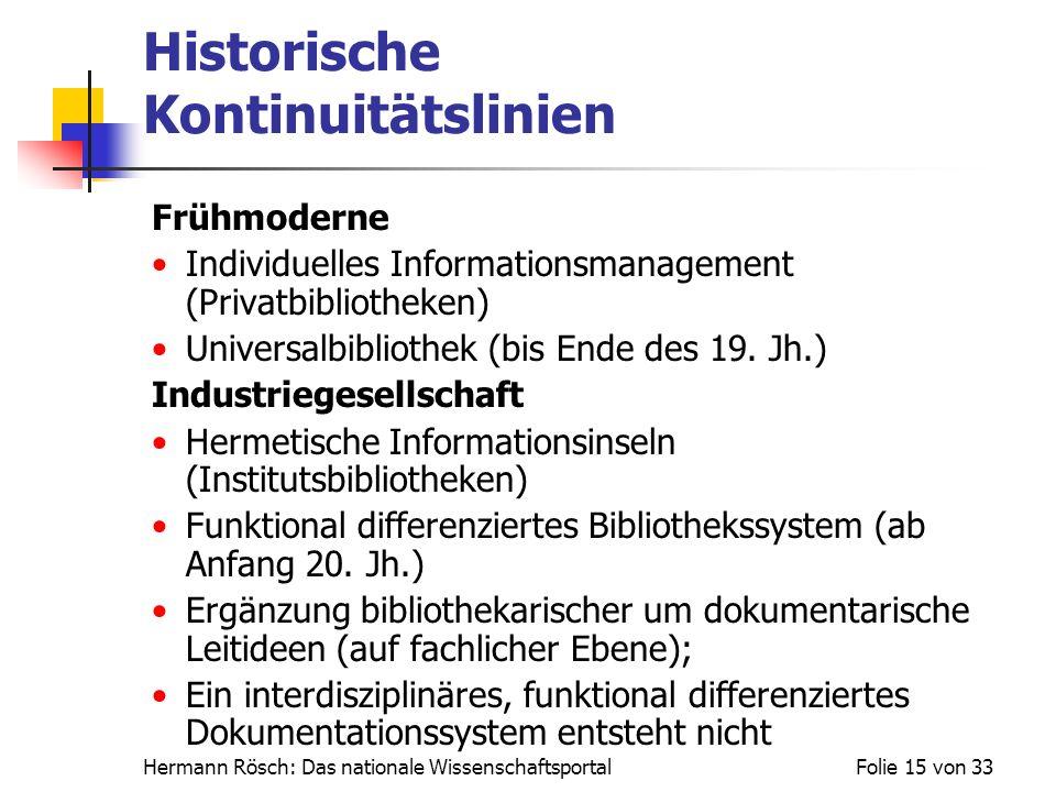 Historische Kontinuitätslinien