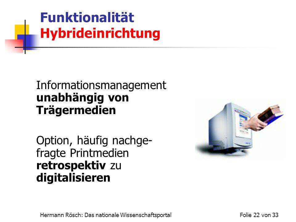 Funktionalität Hybrideinrichtung
