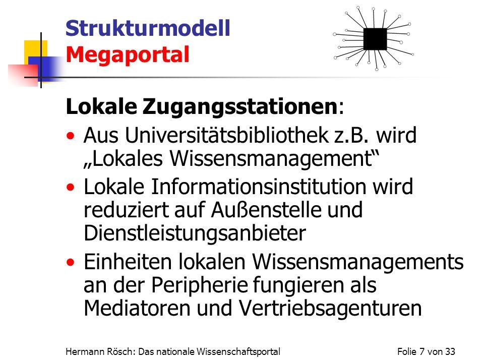 Strukturmodell Megaportal