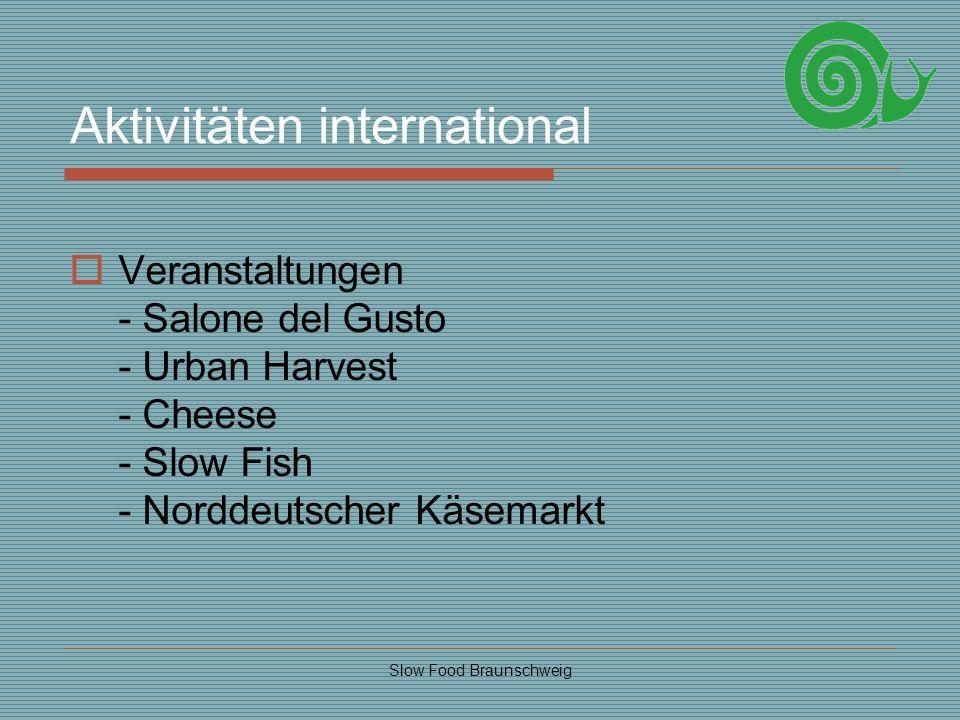 Aktivitäten international
