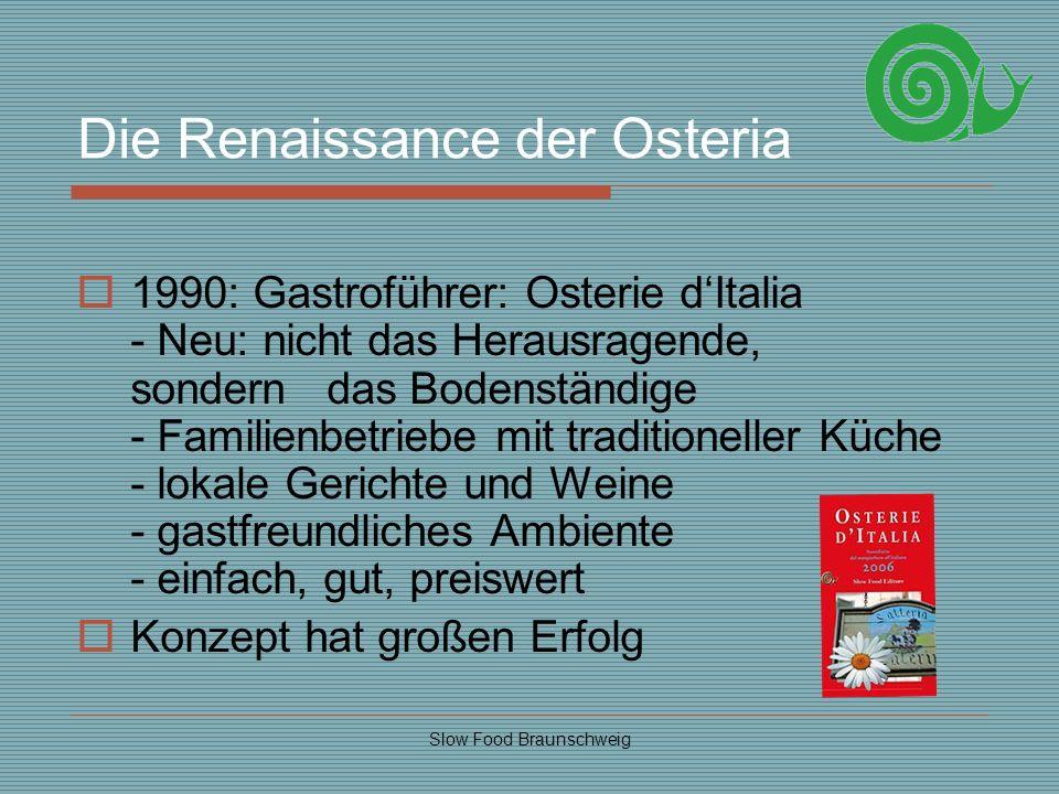 Die Renaissance der Osteria