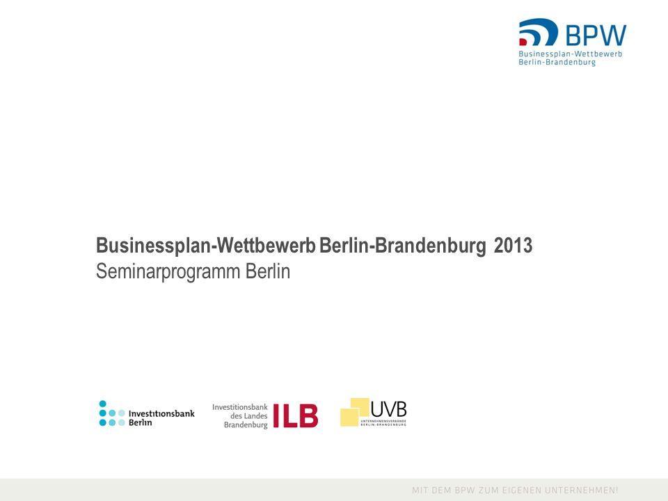 Businessplan-Wettbewerb Berlin-Brandenburg 2013