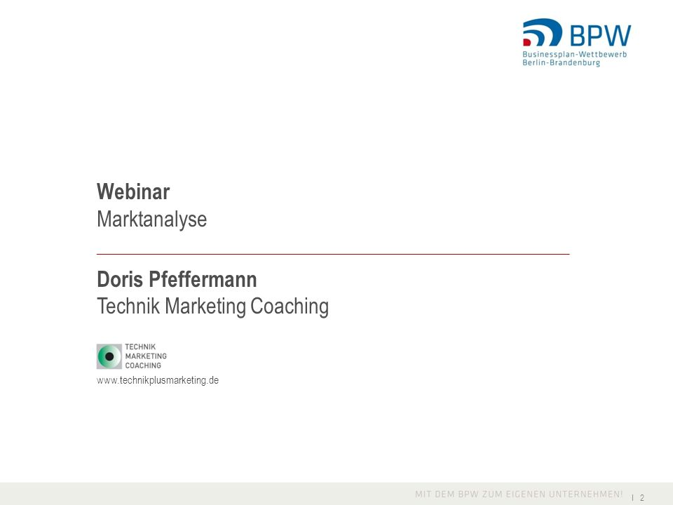 Technik Marketing Coaching