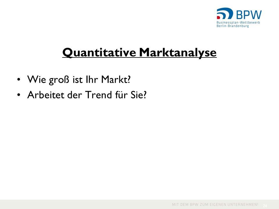 Quantitative Marktanalyse