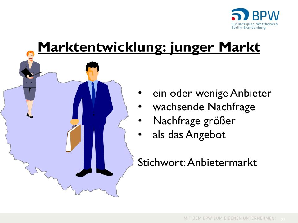 Marktentwicklung: junger Markt