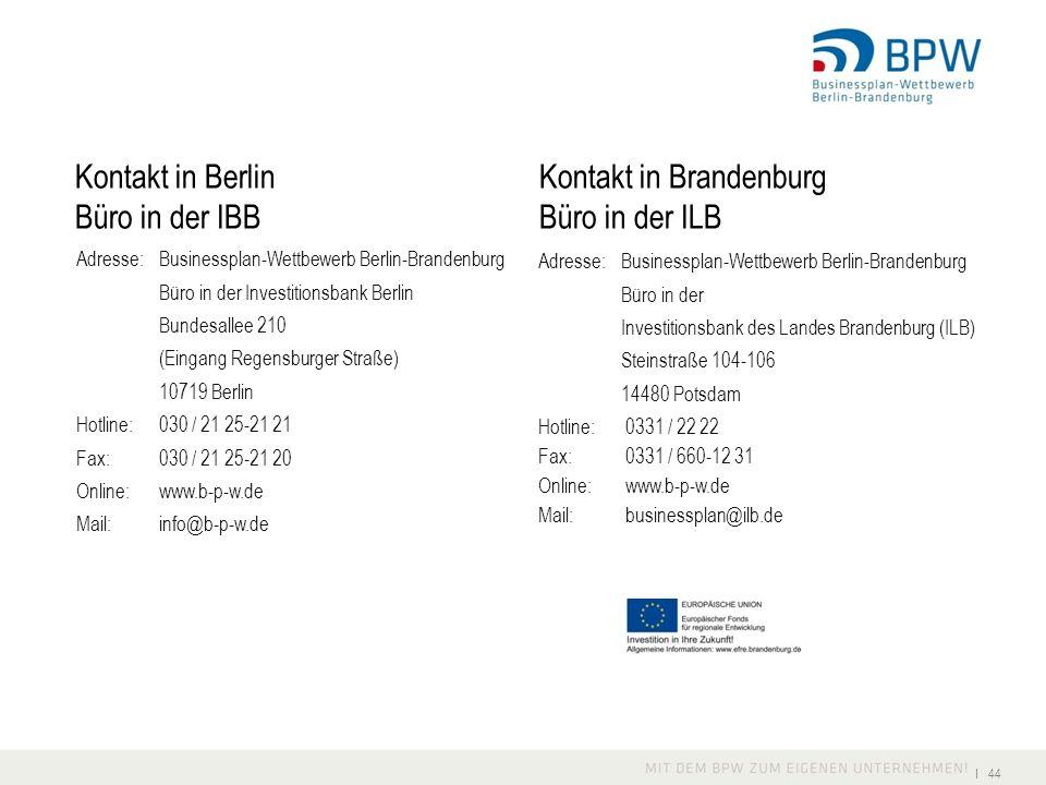 Kontakt in Berlin Kontakt in Brandenburg