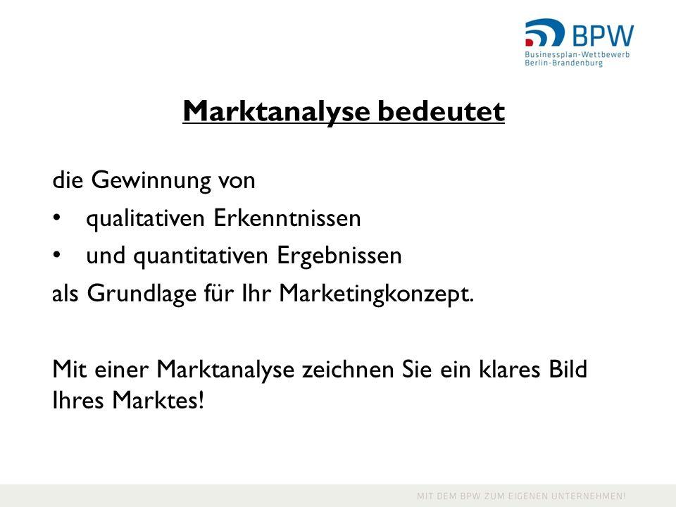 Marktanalyse bedeutet
