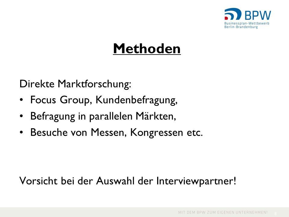 Methoden Direkte Marktforschung: Focus Group, Kundenbefragung,
