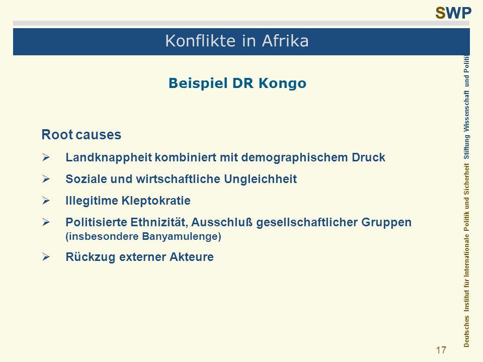 Konflikte in Afrika Beispiel DR Kongo Root causes