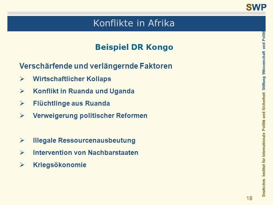 Konflikte in Afrika Beispiel DR Kongo
