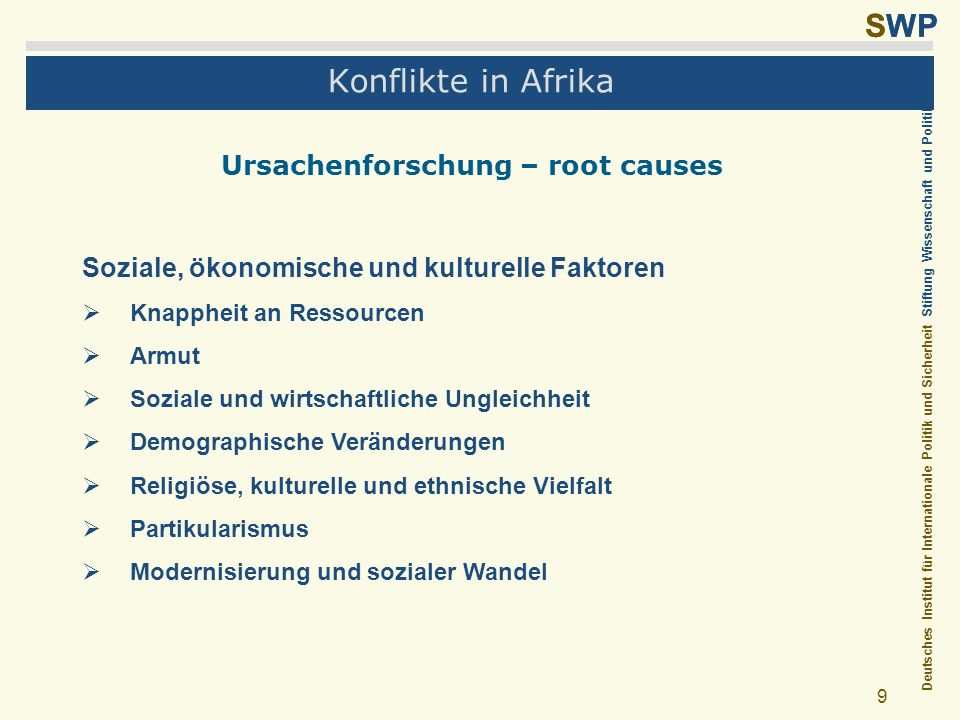 Ursachenforschung – root causes