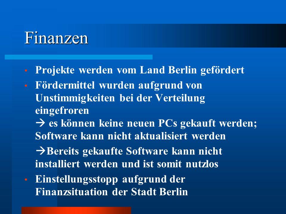 Finanzen Projekte werden vom Land Berlin gefördert