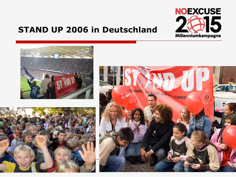 STAND UP 2006 in Deutschland