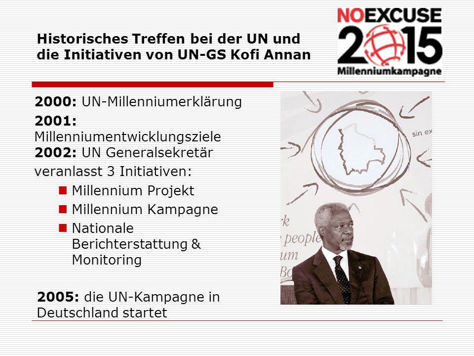 Historisches Treffen bei der UN und die Initiativen von UN-GS Kofi Annan