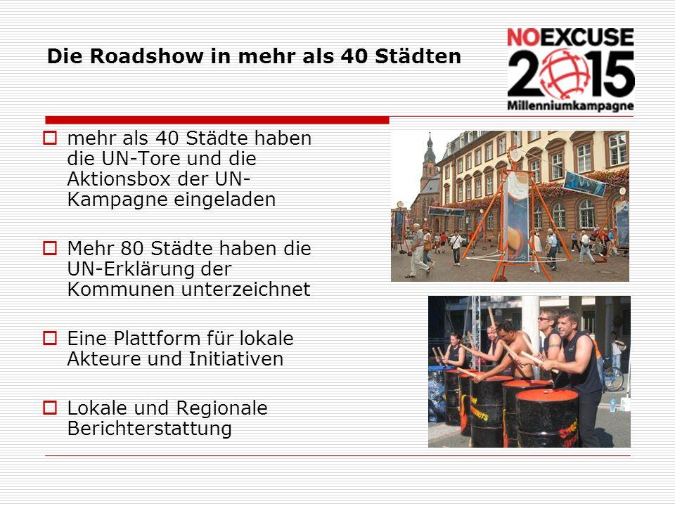 Die Roadshow in mehr als 40 Städten