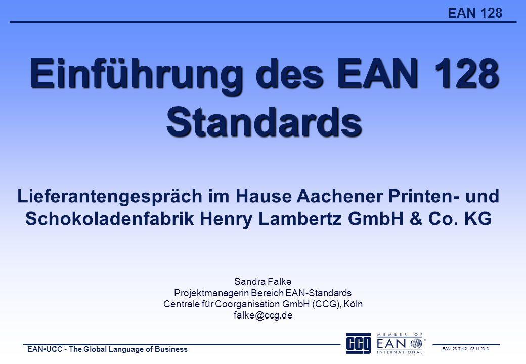 Einführung des EAN 128 Standards