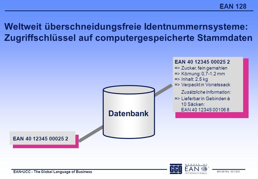 Weltweit überschneidungsfreie Identnummernsysteme: Zugriffschlüssel auf computergespeicherte Stammdaten