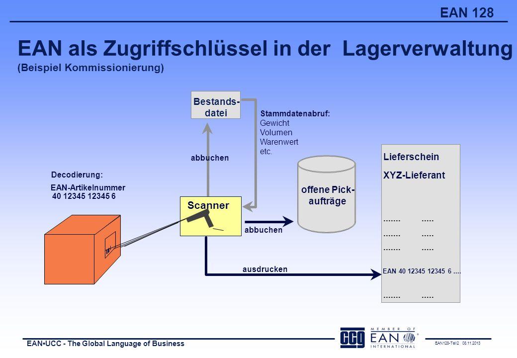 EAN als Zugriffschlüssel in der Lagerverwaltung (Beispiel Kommissionierung)