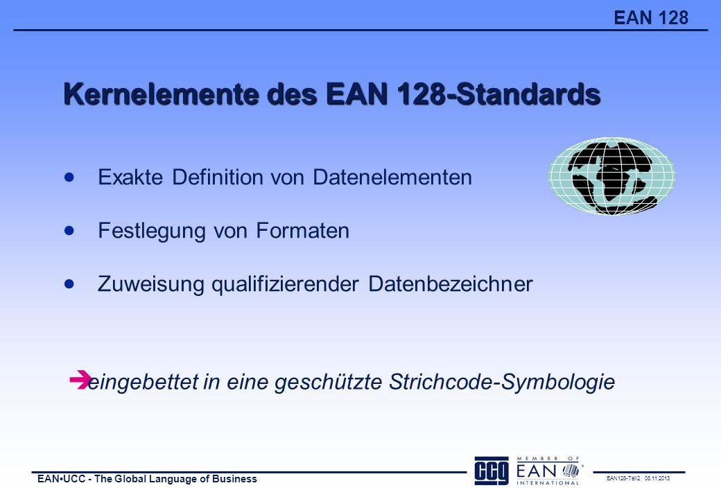 Kernelemente des EAN 128-Standards