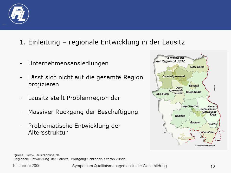 Einleitung – regionale Entwicklung in der Lausitz
