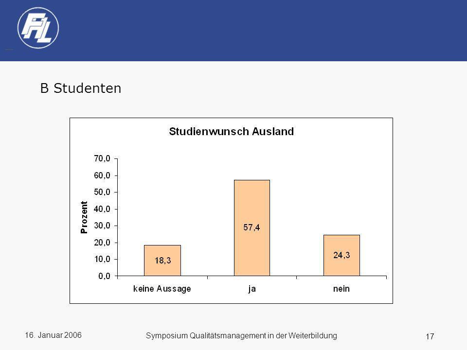 B Studenten Symposium Qualitätsmanagement in der Weiterbildung