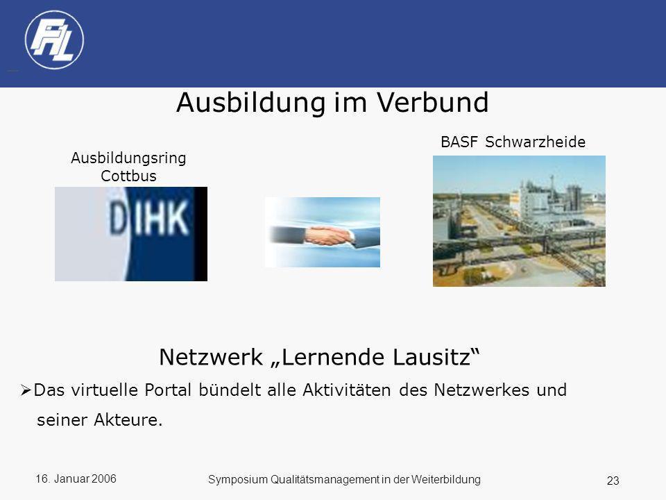 """Ausbildung im Verbund Netzwerk """"Lernende Lausitz"""