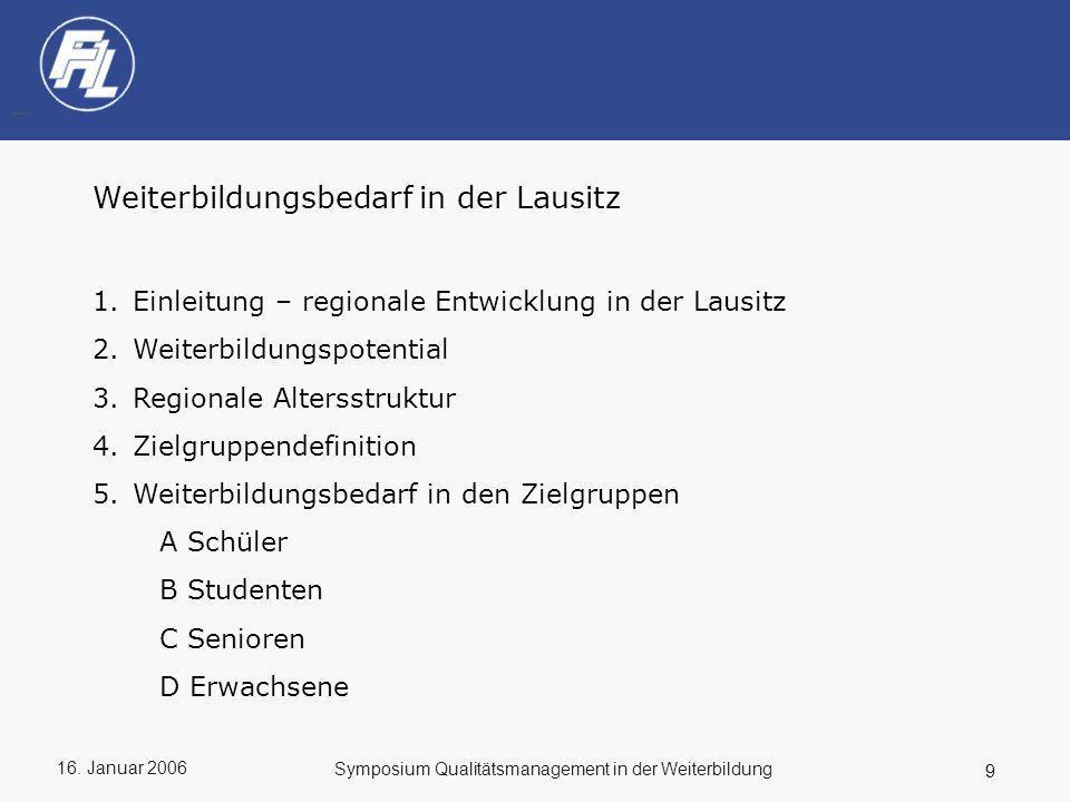 Weiterbildungsbedarf in der Lausitz
