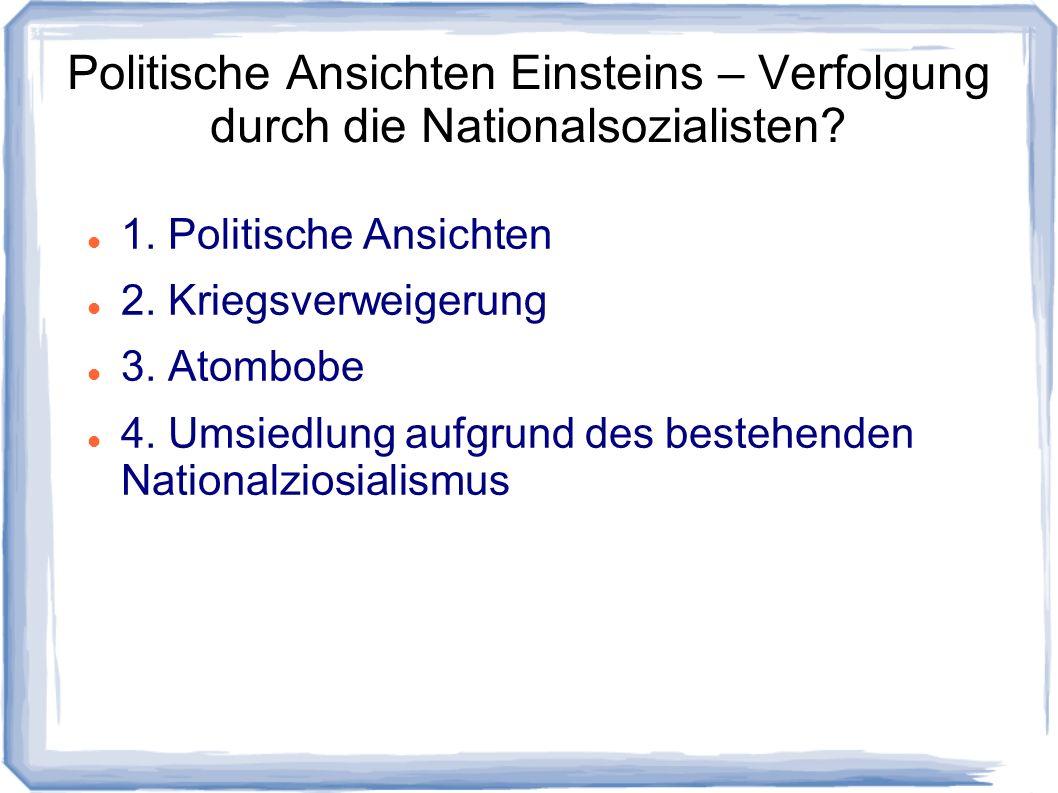 Politische Ansichten Einsteins – Verfolgung durch die Nationalsozialisten