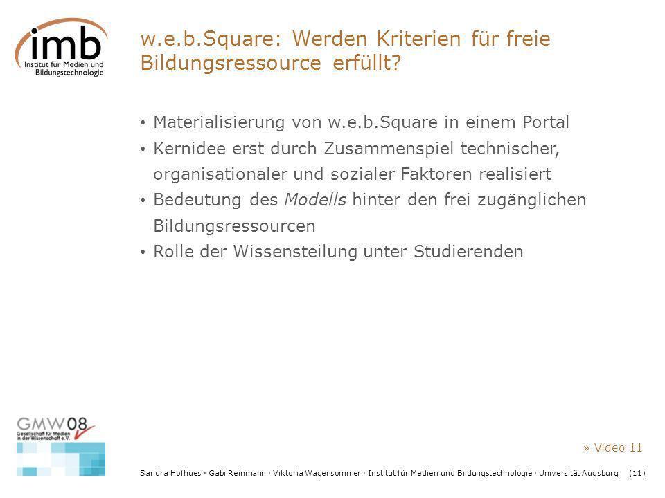 w.e.b.Square: Werden Kriterien für freie Bildungsressource erfüllt