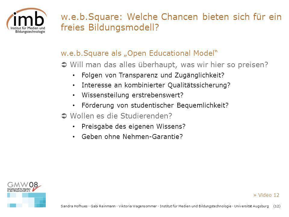 w.e.b.Square: Welche Chancen bieten sich für ein freies Bildungsmodell