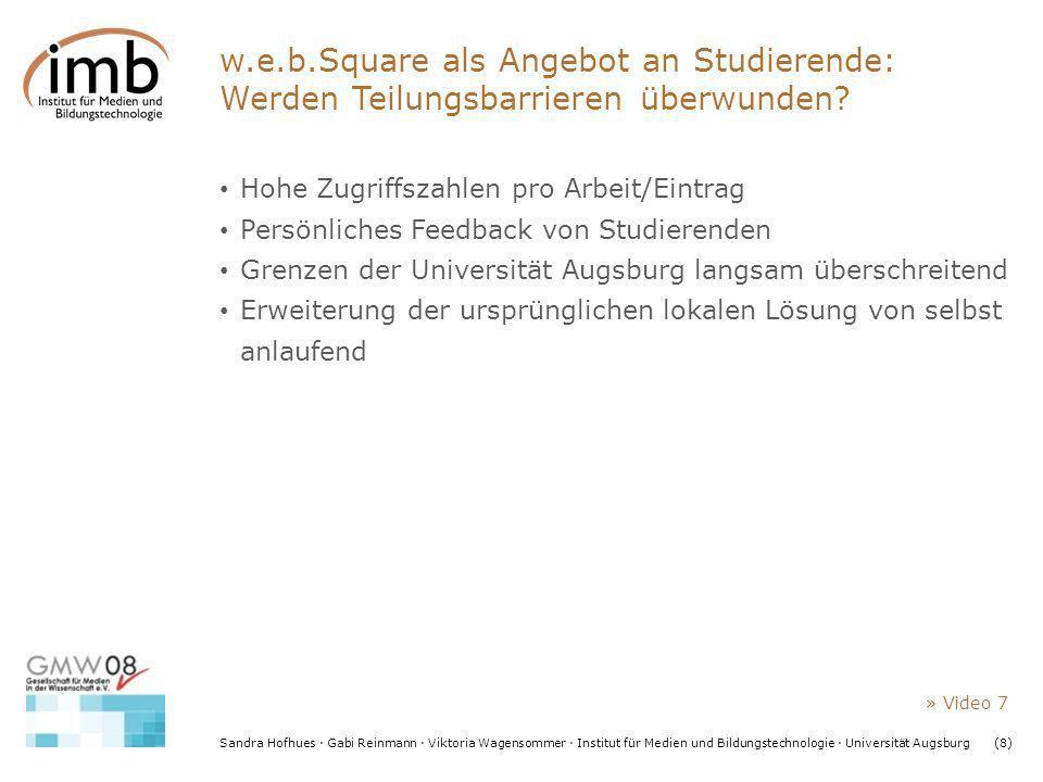 w.e.b.Square als Angebot an Studierende: Werden Teilungsbarrieren überwunden