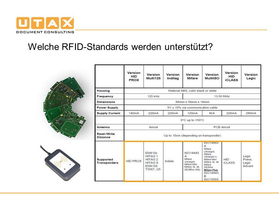 Welche RFID-Standards werden unterstützt
