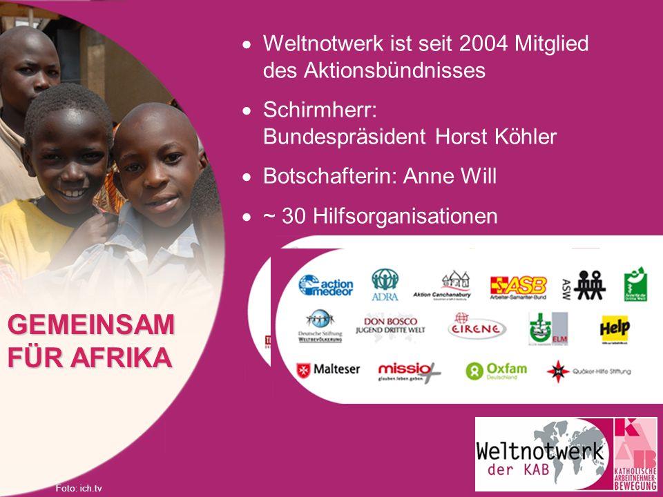 Weltnotwerk ist seit 2004 Mitglied des Aktionsbündnisses