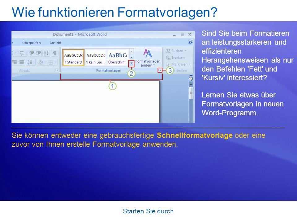 Wie funktionieren Formatvorlagen