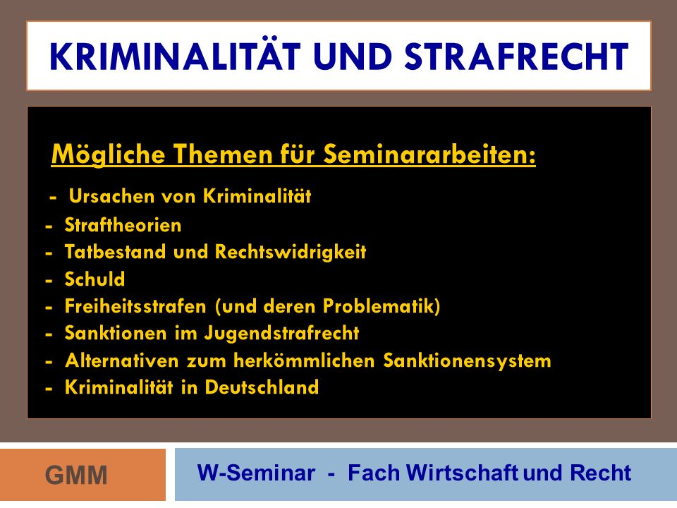 Kriminalität und Strafrecht