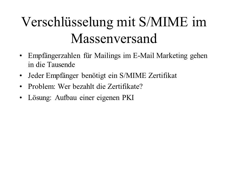 Verschlüsselung mit S/MIME im Massenversand