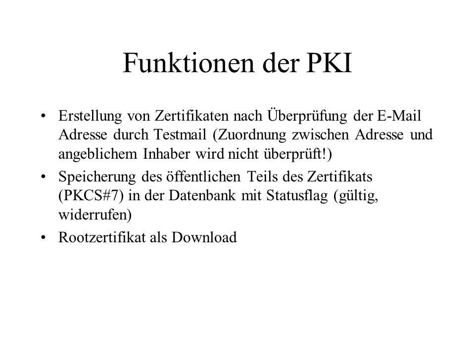 Funktionen der PKI