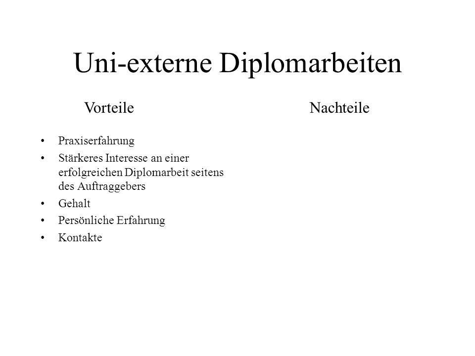 Uni-externe Diplomarbeiten